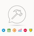 hammer icon repair or fix sign vector image vector image