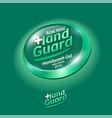 hand guard logo label virus protection sanitizer vector image vector image