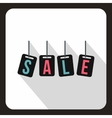 Hanging sales tags icon flat style vector image