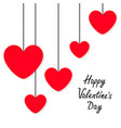 happy valentines day sign symbol red heart icon vector image vector image