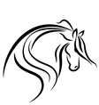 Horse stylized swoosh vector | Price: 1 Credit (USD $1)