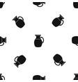 jug of milk pattern seamless black vector image vector image