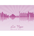 Las Vegas skyline in purple radiant orchid