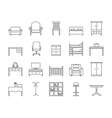 Line furniture icons set vector image vector image