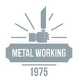 metal working logo vintage style vector image vector image