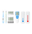 meteorology thermometers for measuring heat vector image vector image