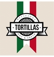 Mexican Cuisine vintage sign - Tortillas vector image