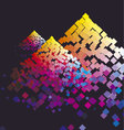 Modern colorful composition with color square vector image