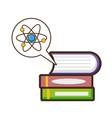 molecule books laboratory science vector image vector image
