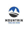 mountain object circle logo vector image vector image