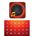 music store icon set vector image vector image
