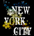 new york city typography poster fashion design vector image vector image
