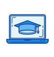 online graduation line icon vector image vector image