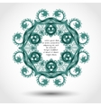 Ornamental retro frameborder vector image