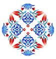 Ottoman tulips three vector image vector image