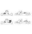 outline karting vector image vector image