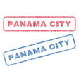 panama city textile stamps vector image vector image