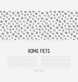 pet paws concept with place for text vector image vector image