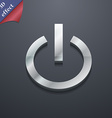 Power icon symbol 3D style Trendy modern design vector image