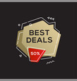 sale golden banner design template vector image