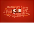 School Word Cloud Bubble Tag Tree vector image vector image