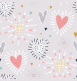 seamless pattern with shining hearts creative vector image