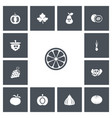 set of 13 editable cooking icons includes symbols vector image vector image