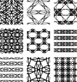 Set of black and white abstract geometric seamless vector image vector image
