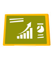 set of charts on the green board cartoon vector image