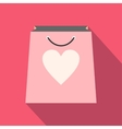 Shopping bag with heart icon vector image vector image