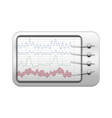 simple polygraph in realistic style vector image