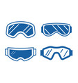 ski goggles icon set vector image