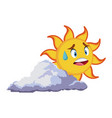 Smiling sun cartoon mascot character image