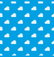 sun and cloud pattern seamless blue vector image