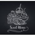 sweets icon blackboard style vector image vector image