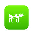 switzerland cow icon digital green vector image