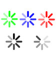 symbol loading green blue red grey vector image vector image