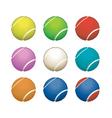 tennis balls vector image vector image