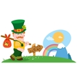 The man with a bundle on stick St Patrick Day vector image