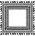 traditional simple meander black and white square vector image vector image
