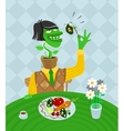 Vegetarian parody vector image vector image