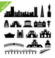 vietnam hanoi landmark and skyline silhouettes vector image