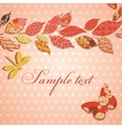 Vintage background with border of patch leaves vector image vector image