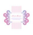 wedding invitation design template minimalistic vector image vector image
