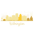 Wilmington City skyline golden silhouette vector image vector image