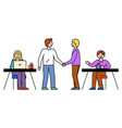 worker business consulting and partnership vector image vector image