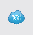 Blue cloud restaurant icon vector image