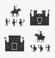 medieval army and ancient castles vector image