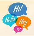 speech bubble communication vector image