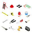 home repair icons set isometric view vector image